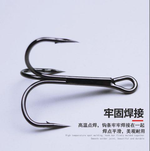 long shank treble hooks
